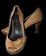 JONAK PARIS peeptoes, pumps, high heels, camel, Mt. 38