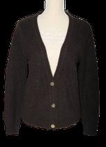 OBJECT cardigan, vest, bruin - grijs - zwart, Mt. S