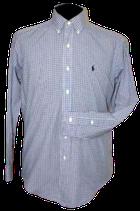 POLO RALPH LAUREN overhemd, bl.chckrd,  Mt. 37