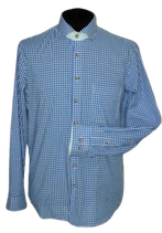 ARIDO overhemd, blauw-wit geruit, Mt. 40