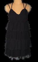 VANILIA 100% zijde jurkje, WELIKE jurk, zwart, Mt. 38