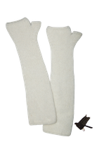 SUPERTRASH viscose/angora-mix handschoenen, arms, wit