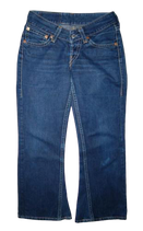 LEVI'S 927, Retro Super Low Flared Jeans In Blue. Mt. W30