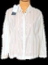 SUNCOO PARIS blouse, LUCA, gebroken wit/zilver, Mt. M