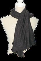 SUPERTRASH lurex omslagdoek, shawl zwart met gouden glitters