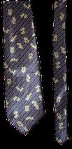 VERSACE zijden stropdas, blue, butterflies