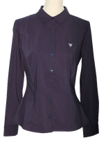 GUESS blouse, getailleerd, donker blauw, Mt. M