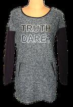 IKSS sweaterdress, jurkje, jurk, sweater, grijs/zwart, Mt. S