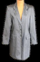 TUZZI lange blazer, colbert, jasje, zilver/grijs, Mt. 38
