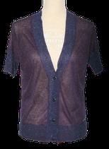 GUESS vestje, glitter vest, korte mouw, blauw, Mt. M