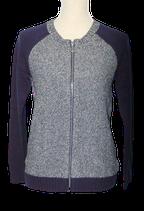 SUPERTRASH vest, CALA  zilver/blauw, Mt. S
