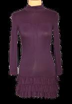 MER DU NORD jurkje, viscose jurk met col, paars, Mt. S