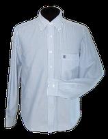 BREUER gestreept overhemd, donker blauw - wit, Mt. L