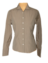 STROKE getailleerde blouse, ISAAC, bruin, Mt. 38