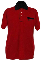 NIEUWE vintage NIKE AIRLINER polo, rood, Mt. XL