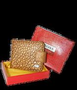 HUGO BOSS leren portemonnee, portefeuille, bruin-goud