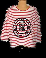 NIKKIE truitje, top, gestreept, rood/wit, Mt. 36