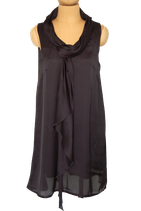 SOAKED IN LUXURY satijnen jurk, GRANOLA, zwart Mt. M
