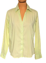 RIVER WOODS blouse, gestreept, licht groen, Mt. 42