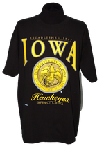LEE SPORT IOWA HAWKEYES t-shirt, zwart, Mt. XL