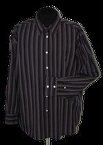 BEN SHERMAN gestreept overhemd, shirt, paars - zwart - grijs, Mt. XXXL