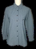 BLUE WILLI'S blouse, kleine ruit, blauw, Mt. S