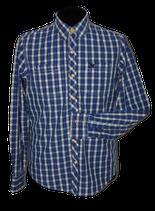 VANGUARD geruit overhemd, blauw - wit, Mt. M