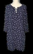 VANILIA jurkje, MADONNA jurk, flower dot, blauw, Mt. 38
