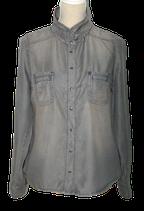 SUPERTRASH tencel blouse, BIPER, grijs, Mt. 42