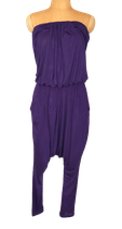 BY MALENE BIRGER strapless jumpsuit, viscose, paars, Mt. S