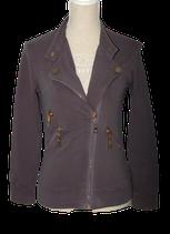 JOSH V  sweater-stof, jasje, grijs, Mt. S