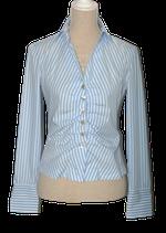 RENE LEZARD getailleerde blouse,  blauw/wit, Mt. 36