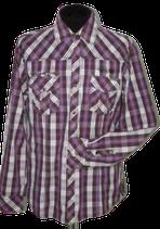 SILVERCREEK overhemd, paars geruit, Mt. XL