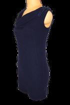LIU JO jurk, jurkje, wolmix mini-jurk, blauw, Mt. 36