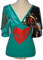 DESIGUAL top, heart, Mt. S
