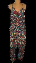WIYA bohemian jumpsuit, vintage overall, flowers, Mt. M