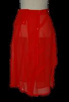 CORA KEMPERMAN chiffon rokje, scarlet rood, Mt. S