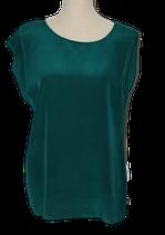 DIDI 100% zijde topje, top, groen, Mt. M