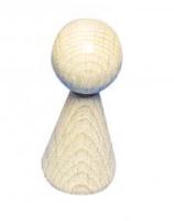 Rohholz-Figurenkegel klein