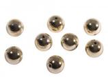 Plastik-Rundperlen gold 8 mm