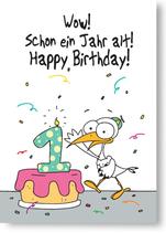 WOW! Schon ein Jahr alt! Happy Birthday!