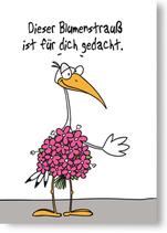 Dieser Blumenstrauß ist für dich gedacht.