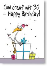 Cool drauf mit 30 - Happy Birthday!