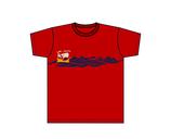 Kinners-T-Shirt Rot Kogge Meer