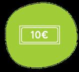 Chèque-cadeau 10 €