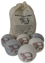 Woll-Trocknerbälle Set à 6 Stk