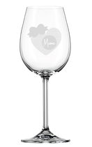 """Weinglas """"Mama Herz"""""""