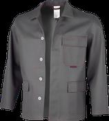 Qualitex Schweißerschutz-Arbeitsjacke robust SW Grau  ca. 390 g/m²