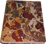 Marbled paper photo album