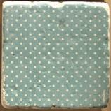 "Deko-Fliese ""Dots blue"" - aus Marmor"